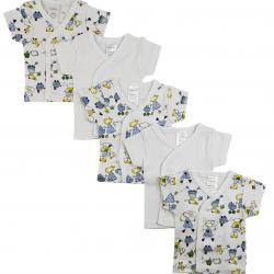 White Side Snap Short Sleeve Shirt - 5 Pack