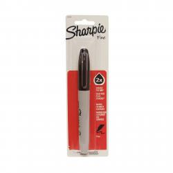 Sanford Sharpie Permanent Market, Black, Fine Point, 2x Double The Ink, #33101,  One Count Carded