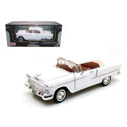 1955 Chevrolet Bel Air Convertible Soft Top White 1-18 Diecast Car Model By Motormax 73184w