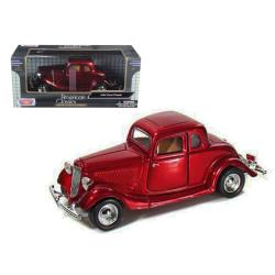 1934 Ford Coupe Red 1-24 Diecast Model Car By Motormax 73217r