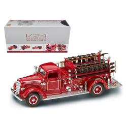 1938 Mack Type 75 Fire Engine Red With Accessories 1-24 Diecast Model Truck By Road Signature 20158r
