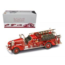 1938 Ahrens Fox Vc Fire Engine Truck Red With Accessories 1-24 Diecast Model By Road Signature 20178r