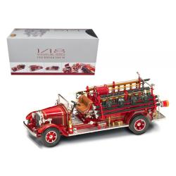 1932 Buffalo Type 50 Fire Truck Red With Accessories 1-24 Diecast Model By Road Signature 20188r